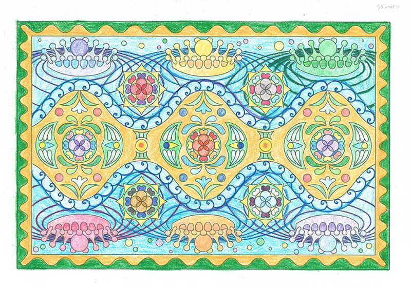 曼荼羅塗り絵-夏